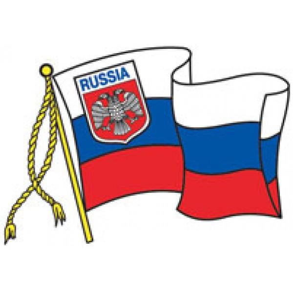 Russia-флаг вырезная (разм. 22.х32)  упак. 10 шт
