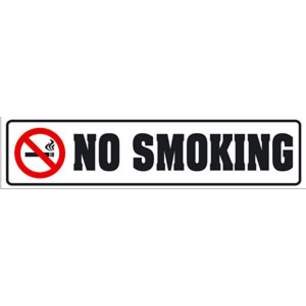 No smoking (3.5x16) белый  фон , упак. 10 шт
