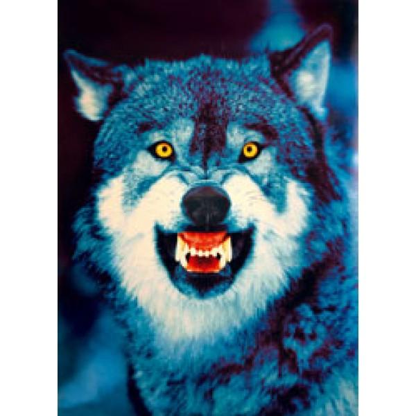Волк(морда) разм. 50х35
