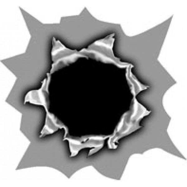 Пулевое отверстие № 5 (4.5х5) упак. 10 шт