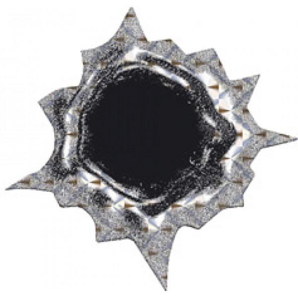 Пулевое отверстие № 4, голография (4.5х5) упак. 10 шт