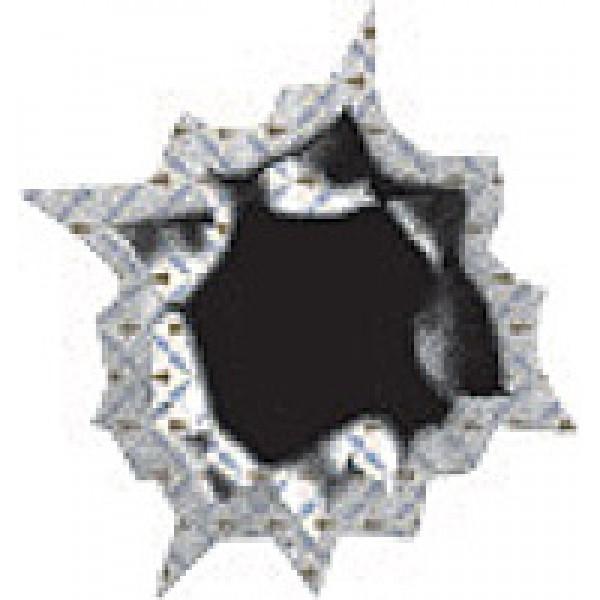 Пулевое отверстие № 5 ,голография (4.5х5) упак. 10шт