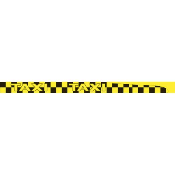 Такси , комплект 8 полос , желтый + черный (6.6х100)