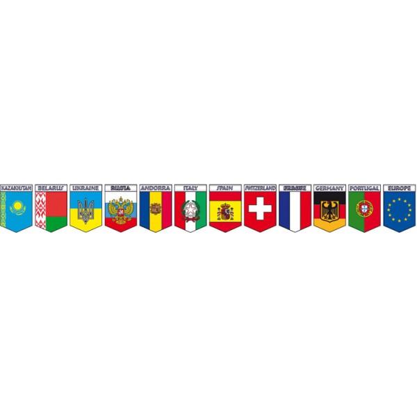 Страны и страны , 12шт (11х7.5)