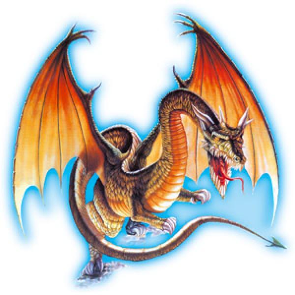 Дракон с крыльями (разм. 50х50)