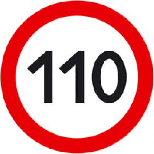 Ограничение скорости (110) Ø 16см , упак. 10 шт