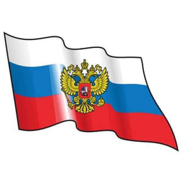 Rus-флаг развевающийся (разм 25х34)  комплект