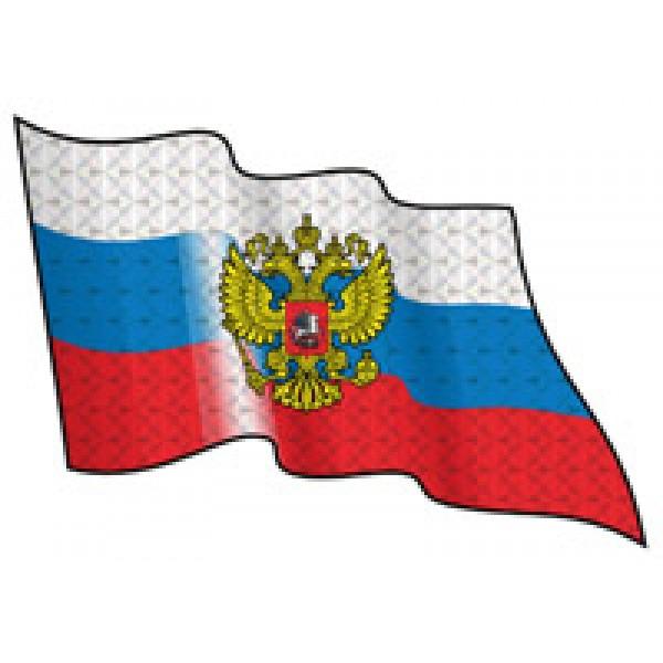 Rus-флаг разв. голограф. (разм. 25х34) компл.