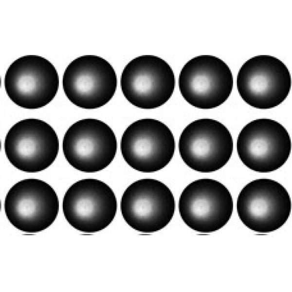 Кружок Ø 1.6 , 15 шт , силикон (черный)