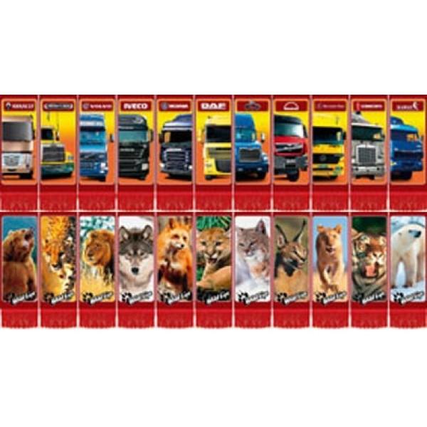 Машинки и  звери , бахрома , 11 шт (6.5х15)