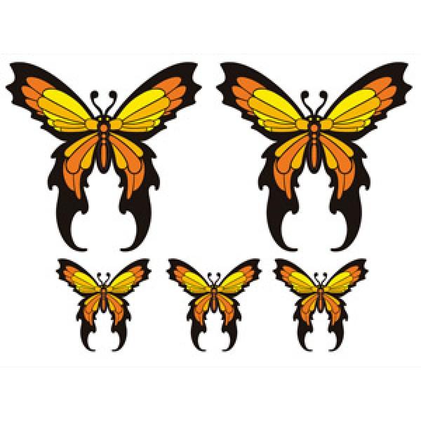 """""""Бабочки красные"""" (35х50 см) полноцветная (2+3)"""