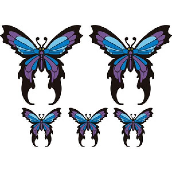 """""""Бабочки синие"""" (35х50 см) полноцветная (2+3)"""