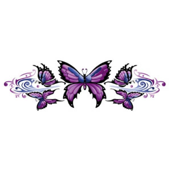 """""""Бабочки - Тату"""" (7,5x22 см) упак. 10 шт."""