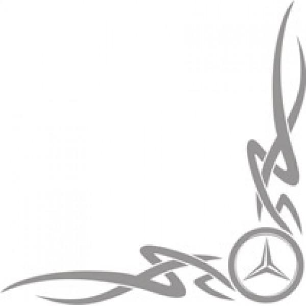 Mercedes , серебро (45х45) комплект