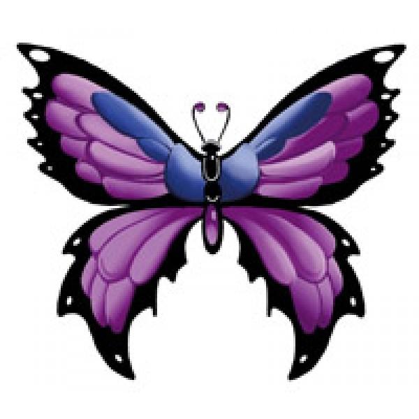 """""""Бабочка фиолет"""" (6,5х8,5 см)  упак. 10шт"""
