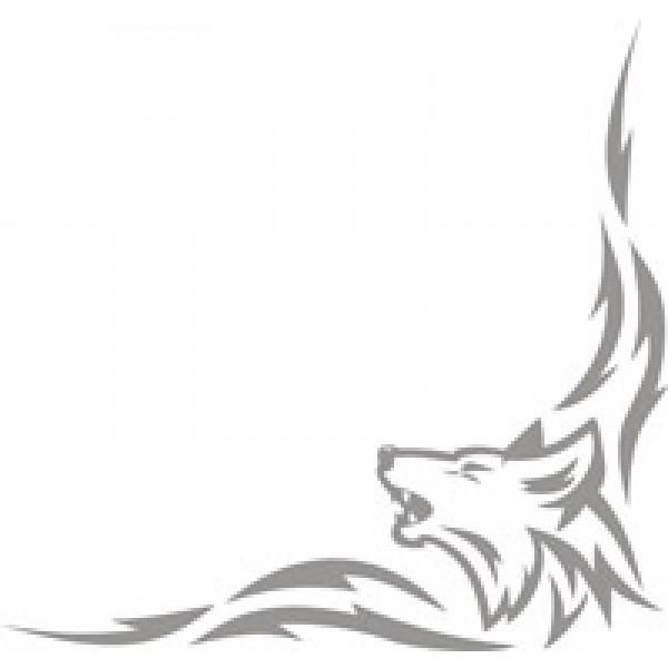 Волк , серебро (40х42) комплект