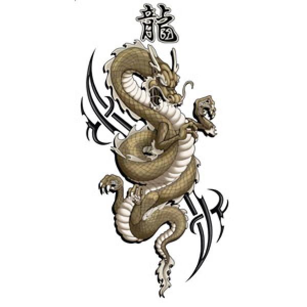 Дракон на тату (разм. 8.5х18) упак. 10 шт