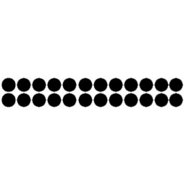 Кружок , 24 шт , Ø 1.2 см , силикон (черный)