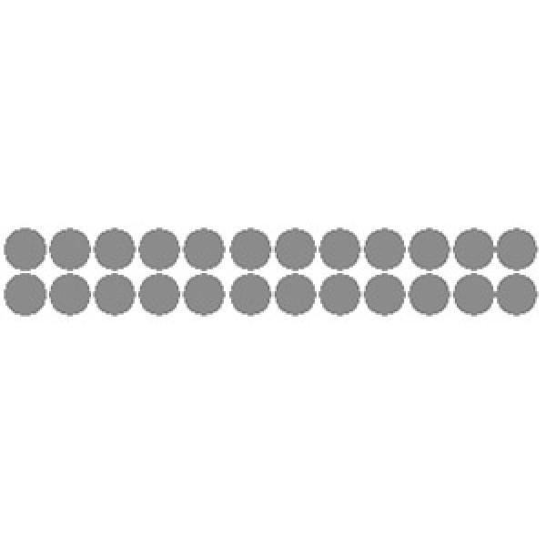 Кружок , 24 шт , Ø 1.2 см , силикон (серебро)