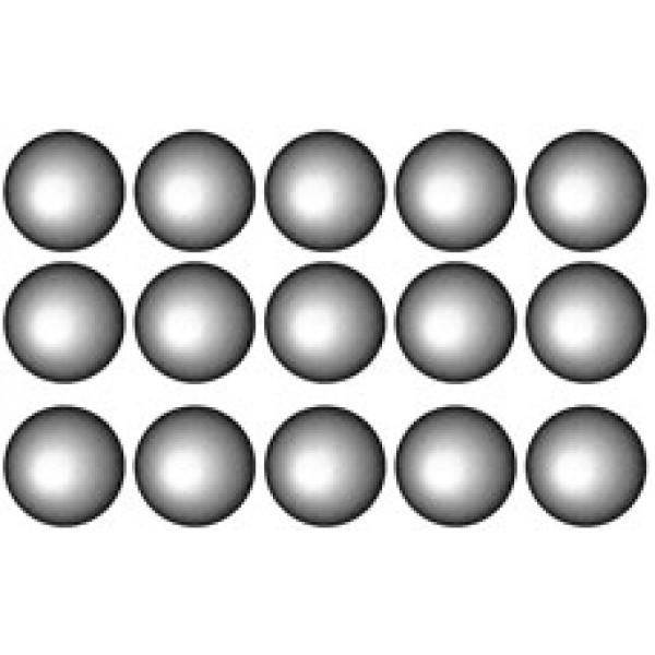 Кружок Ø 1.6 , 15 шт , силикон (металл)