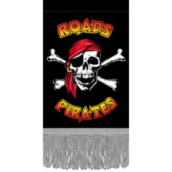 Вымпел Road pirates , бахрома  (8х12)