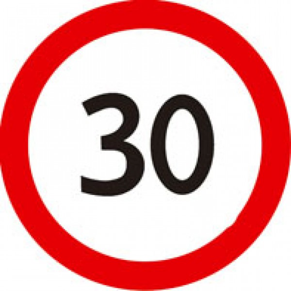 Ограничение скорости (30) Ø 16 , упак. 10 шт