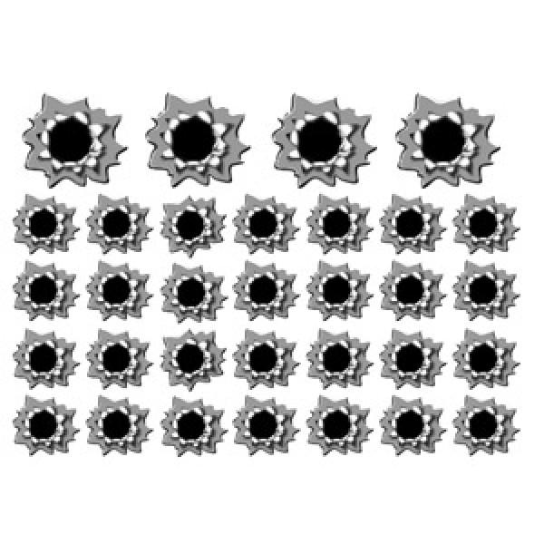 Пулевое отверстие № 6 (25х35)