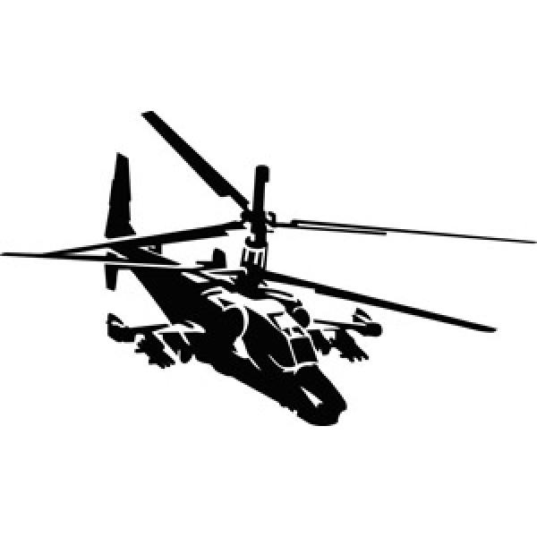 Вертолет , черный (35х50)