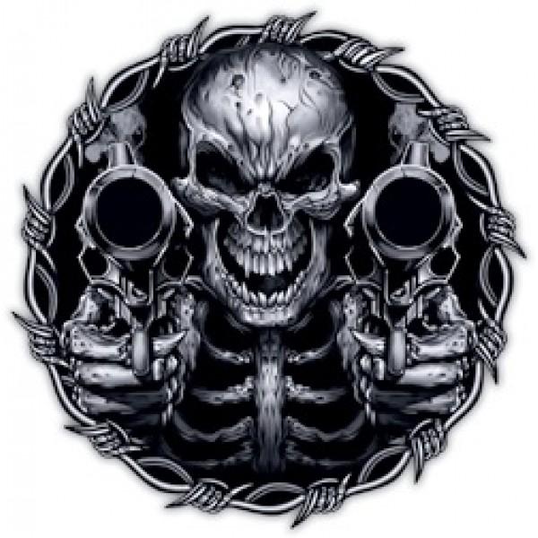 Череп с пистолетами Ø56 см (на запаску)