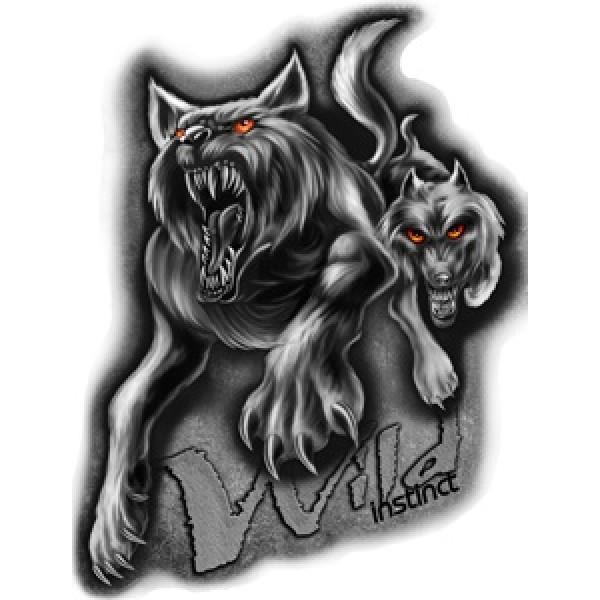 Волк (Wild instinct) разм. 50х35
