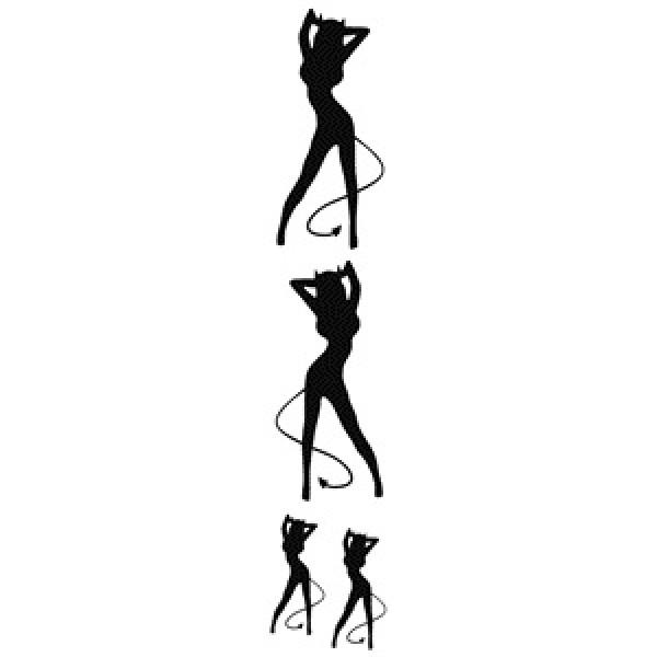 Девушка демон , черный  (9.5х48) упак. 10 шт