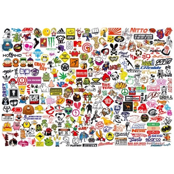 sticker BOOM № 1 (вырезанная) 100х70