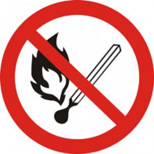 Запрещается пользоваться открытым огнем (20х20) , упак 10 шт