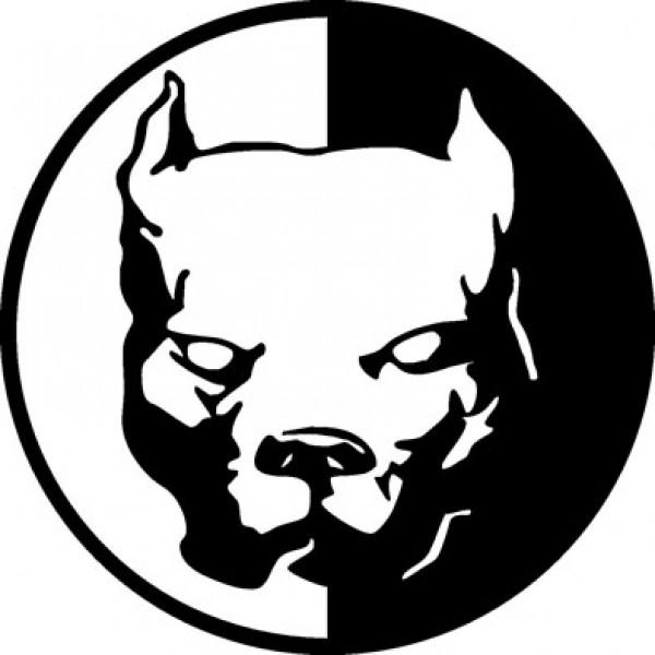Pitbull негатив (10х10) черный , упак. 10 шт