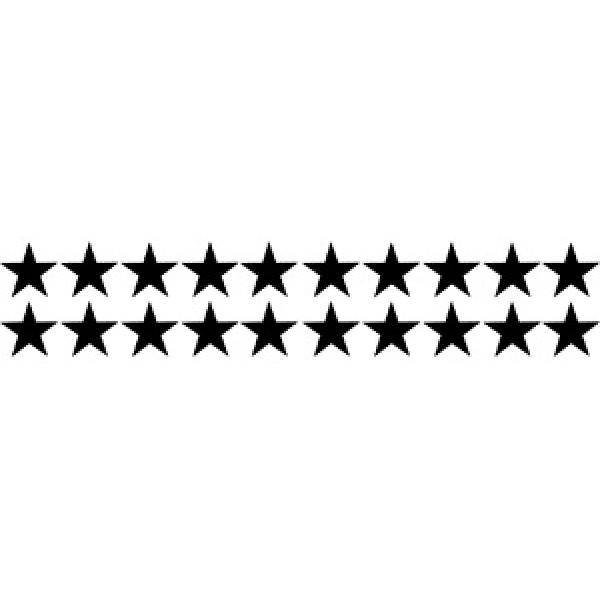 Звездочки (5х25) белый