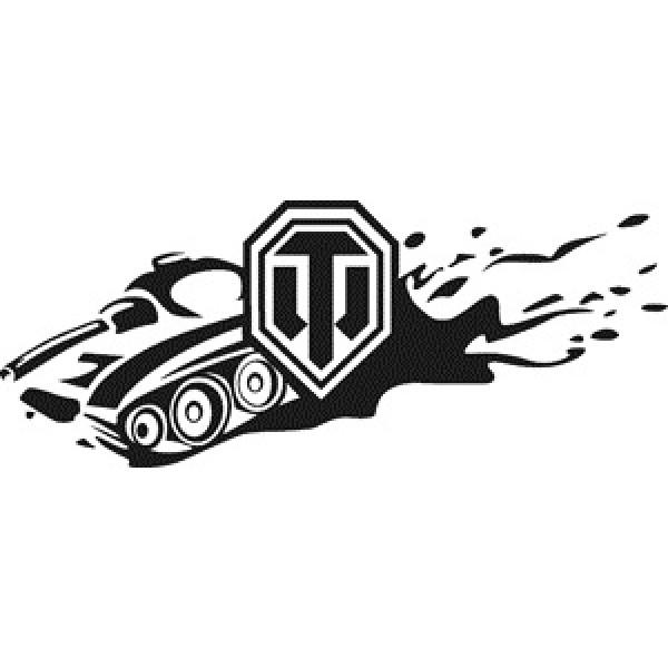 World of Tanks (с танком) , черный (11.5х24)