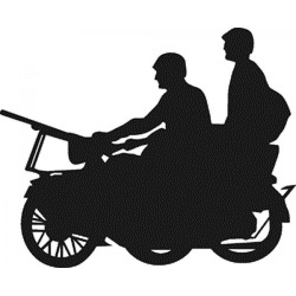Мотоциклисты с пулеметом (10х10) белый , упак (10шт)