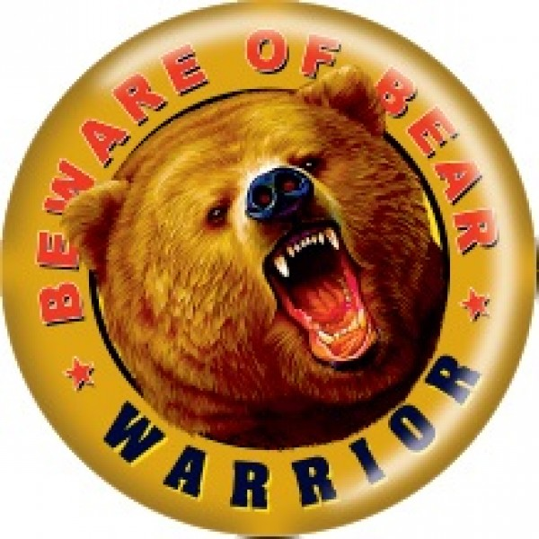 Медведь Warrior Ø5см (объемная)