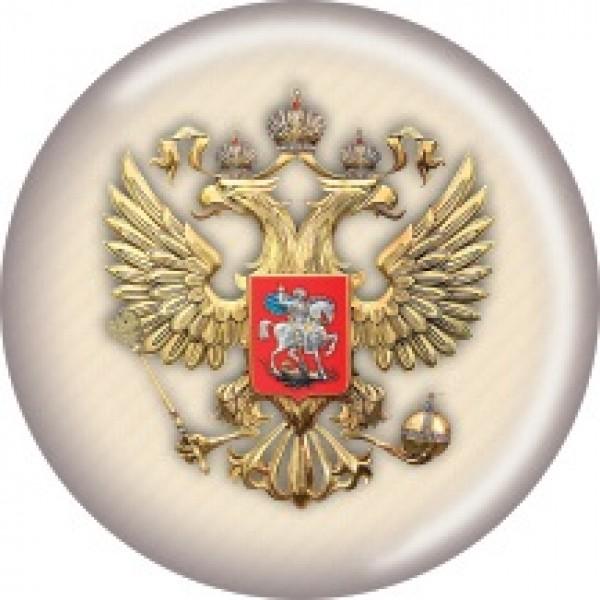 Герб светлый карбон Ø5см (объемная)