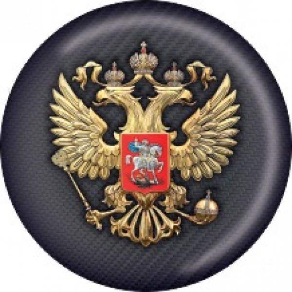 Герб темный карбон Ø5см (объемная)