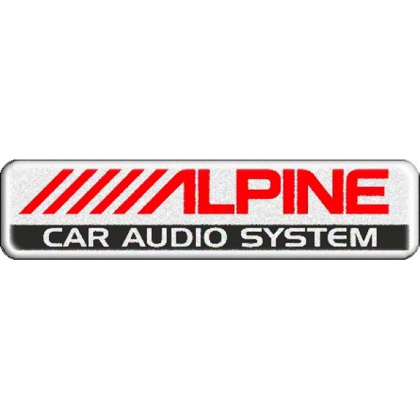 "объемная  эмблема "" ALPINE ""  (2,7х11,2 см)"