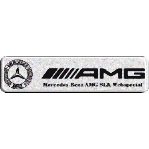 "объемная  эмблема "" AMG ""  (2,7х11,2 см)"