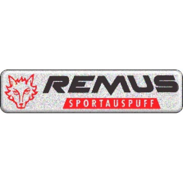 "объемная  эмблема "" REMUS "" (2,7х11,2 см)"