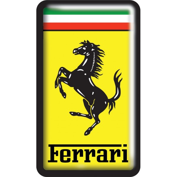 "объемная ""Ferrari"" (5,5 х 9,5см)"