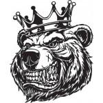 """""""Медведь (корона)"""" (25х30 см) белый"""