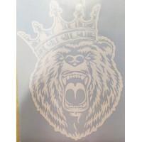 """""""Медведь (корона) №2"""" (25х33 см) белый"""