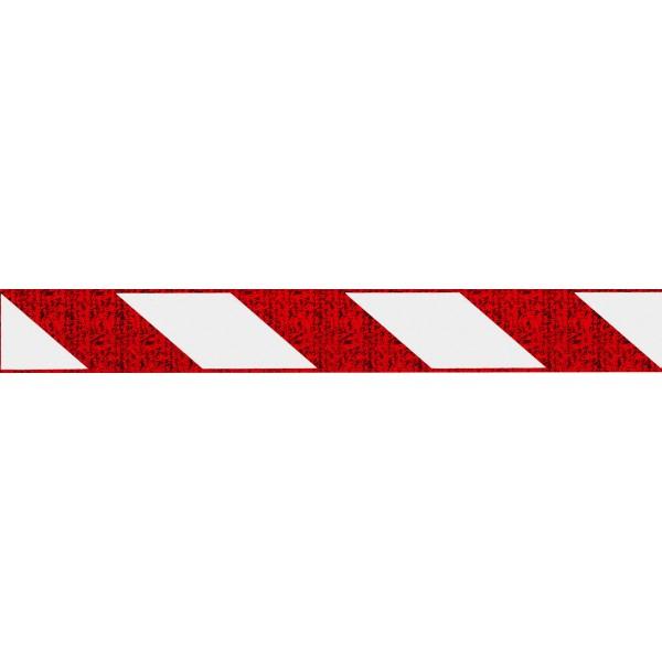Отражатель-зебра ,стекло ,красный (5х38) комплект