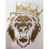 """Лев (корона)"" (25х20 см) золото"