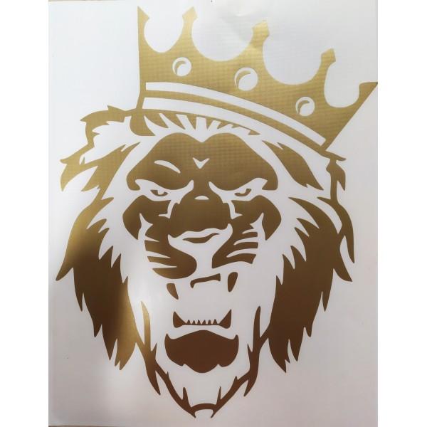 """Лев (корона)"" (41х33 см) золото"