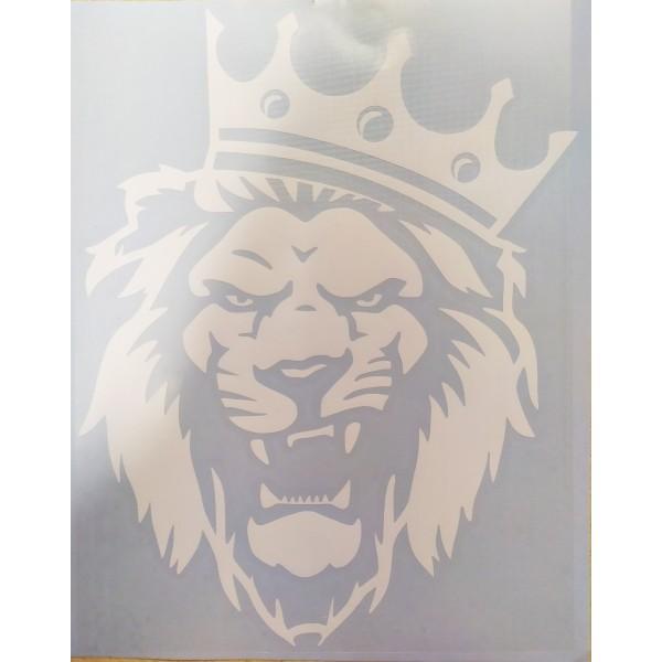 """""""Лев (корона)"""" (25х20 см) белый"""